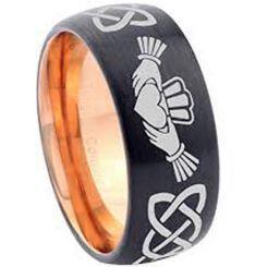 COI Titanium Black Rose Mo Anam Cara Celtic Ring - 2899