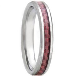 COI Titanium Beveled Edges Ring With Carbon Fiber - JT1462AA