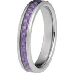 COI Titanium Beveled Edges Ring With Carbon Fiber - JT2325AA