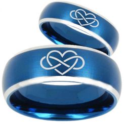 *COI Titanium Infinity Heart Beveled Edges Ring - 3063