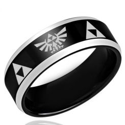 *COI Titanium Legend of Zelda Beveled Edges Ring - 3197