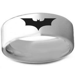 *COI Titanium Batman Pipe Cut Flat Ring - 3236