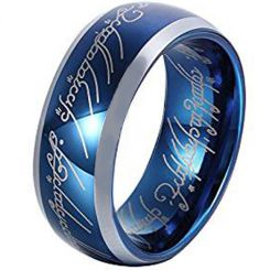 COI Titanium Lord of the Ring Beveled Edges Ring-JT3615