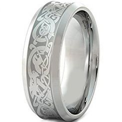 COI Titanium Dragon Concave Ring - JT3661