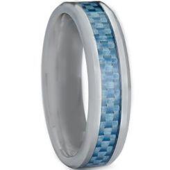 COI Titanium 4mm Beveled Edges Ring With Carbon Fiber-3708