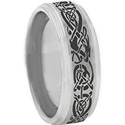 *COI Titanium Dragon Step Edges Ring-JT5094