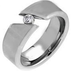 *COI Titanium Solitaire Ring With Cubic Zirconia - JT3859