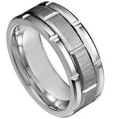 **COI Titanium Tire Tread Brick Pattern Ring - JT3689
