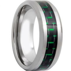 COI Titanium Beveled Edges Ring With Carbon Fiber - 571