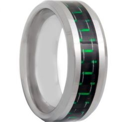 COI Titanium Beveled Edges Ring With Carbon Fiber - 572