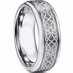 **COI Titanium Celtic Step Edges Ring - JT4118AA
