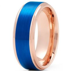 *COI Titanium Blue Rose Step Edges Ring - JT3895BB