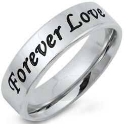 COI Titanium Forever Pipe Cut Flat Ring-5251