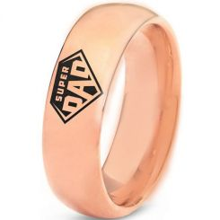 COI Rose Titanium Super Dad Dome Court Ring-5324