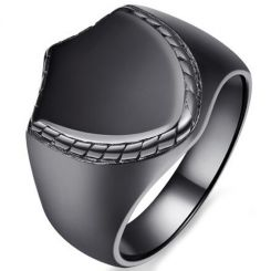 COI Black Titanium Biker Ring-5389