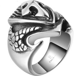 COI Titanium Cross Shield Ring-5390