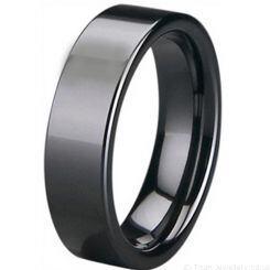 COI White/Black Ceramic Pipe Cut Flat Ring-5400