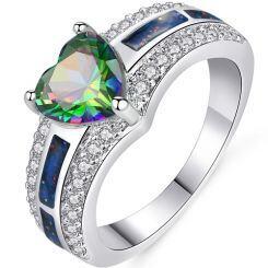 COI Titanium Resin Solitaire Ring With Cubic Zirconia-5415