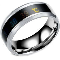 COI Titanium Body Temperature Sensing Beveled Edges Ring-5425