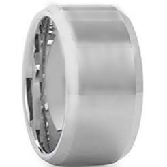 COI Titanium 12mm Beveled Edges Ring-5430
