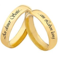 COI Gold Tone Titanium Forever By Your Side Dome Court Ring-5447