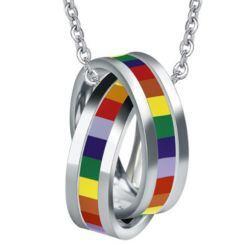 COI Titanium Rainbow Pride Pendant-5505