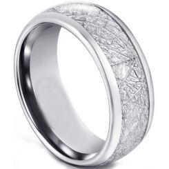 COI Titanium Dome Court Ring With Meteorite-5592