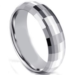 COI Rose Titanium Beveled Edges Ring With Carbon Fiber-5595