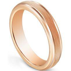 COI Rose Titanium 5mm Step Edges Ring-5600