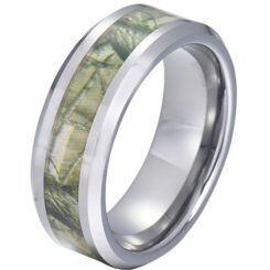 COI Titanium Camo Beveled Edges Ring-JT5788