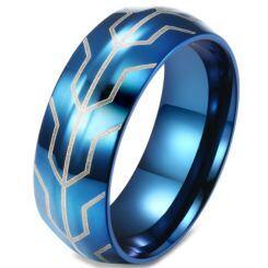COI Blue Titanium Dome Court Ring-5823