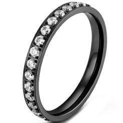 *COI Titanium Black/Rose/Gold Tone/Silver Ring With Cubic Zirconia-5864