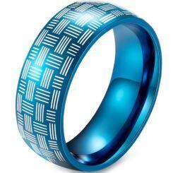 COI Blue Titanium Dome Court Ring-5914