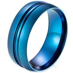 *COI Titanium Blue/Black Center Groove Dome Court Ring-5987