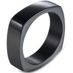*COI Black Titanium Square Ring-5994