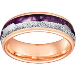 *COI Rose Titanium Meteorite & Lapis Lazuli Ring With Arrows-6862BB