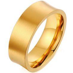 *COI Gold Tone Titanium Concave Ring-6868AA