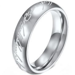 *COI Titanium Gold Tone/Silver Lord Of The Ring Luminous Ring-6875AA