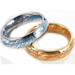 *COI Titanium Gold Tone/Silver Lord Of The Ring Luminous Ring-6876AA