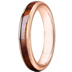 **COI Rose Titanium Dome Court Ring With Wood-6927AA