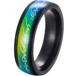 **COI Black Titanium Rainbow Pride Lord of The Ring Ring-6986AA