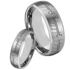 COI Titanium Lord of the Ring Beveled Edges Ring - 853