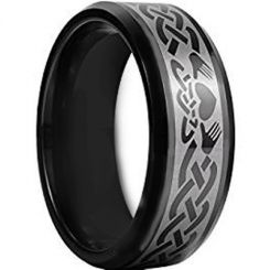 COI Black Titanium Mo Anam Cara Celtic Ring-JT3665