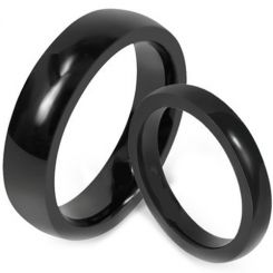 COI Black Titanium Dome Court Ring - JT1250