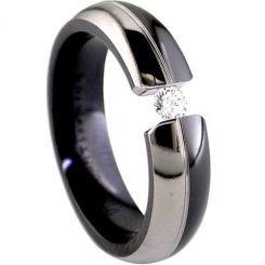 COI Titanium Ring With Black Plating - JT2917(Size:US13)