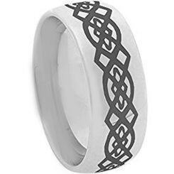 COI Titanium Celtic Dome Court Ring - 3113