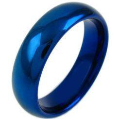 COI Blue Titanium Dome Court Ring - JT3635