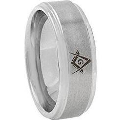 *COI Titanium Masonic Step Edges Ring - JT2774AA