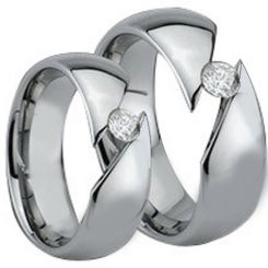 *COI Titanium Solitaire Ring With Cubic Zirconia - JT3860