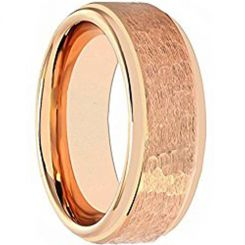 COI Rose Titanium Hammered Step Edges Ring - JT5097